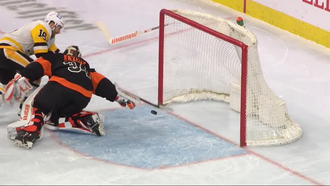 a Spectacular Goalie Save from Philadelphia Flyers vs. Pittsburgh Penguins