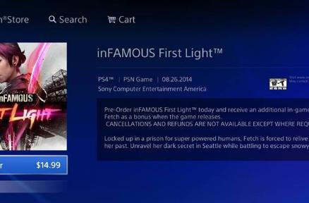 Infamous 'First Light' DLC dated for August