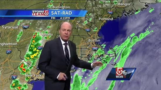 Harvey's Friday Boston area weather forecast