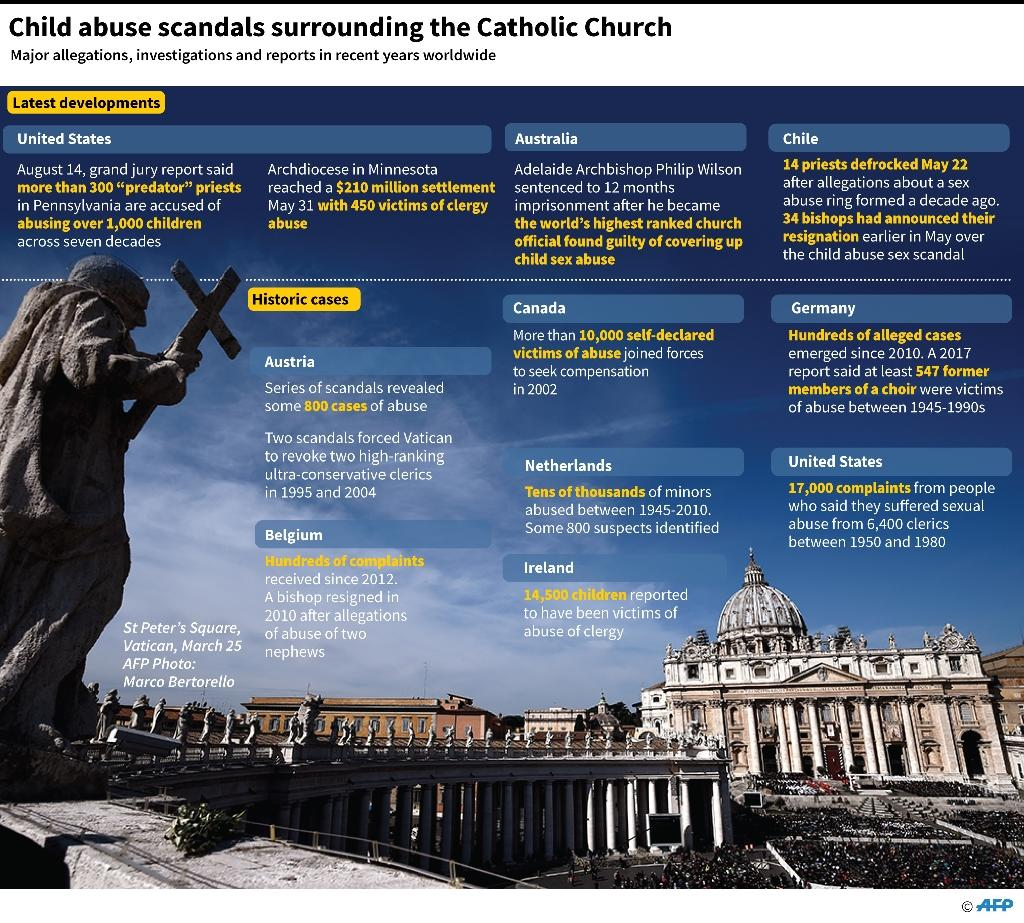 Child abuse scandals surrounding the Catholic Church (AFP Photo/Gal ROMA)