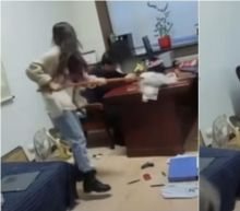 Chinese Woman Goes Viral After Hitting Boss With Mop for Alleged Harassment