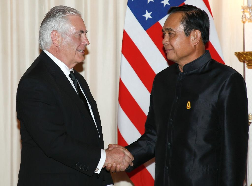 Tillerson is the highest level American diplomat to visit Thailand since a 2014 coup strained ties between the longtime friends and saw China court Bangkok with massive arms sales and infrastructure deals