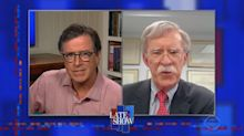 Stephen Colbert and John Bolton's heated interview: 'You've really insulted me now'