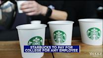 Starbucks to pay for employees' college tuition