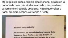 La sorprendente carta que ha recibido en su casa este prestigioso violinista español por lo que hizo en el confinamiento