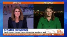 Sarah Hanson-Young's daughter speaks on feud