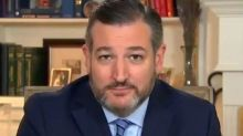 TV crew laugh at Ted Cruz in live interview after he endorses Trump's baseless conspiracy theory