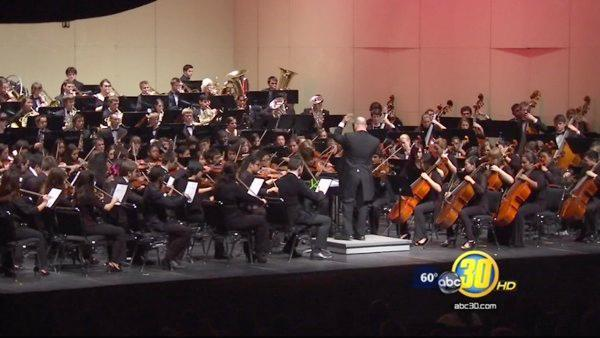 Young musicians play with Fresno State orchestra