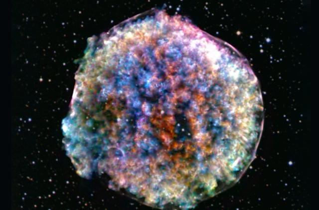 A star died violently and left behind this 'fluffy' ball