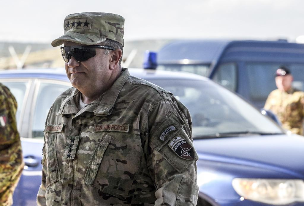 NATO General Philip Breedlove, pictured on September 4, 2015, said Russia had sent advanced weaponry beyond what is needed to fight the Islamic State group to Syria (AFP Photo/Armend Nimani)