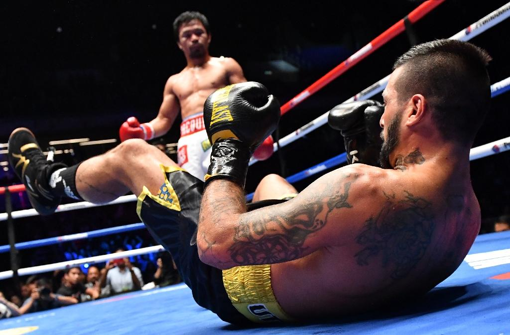Manny Pacquiao is sizing up his options after his defeat of Argentina's Lucas Matthysse