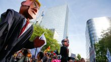 Thousands protest against Trump in 'hellhole' Brussels