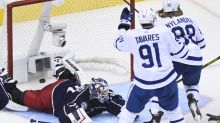 Dubois caps hat trick in OT, Blue Jackets put Leafs on brink