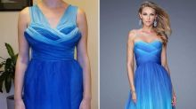 Bride's 'nightmare' wedding dress divides opinion