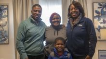 Aaron's, Progressive Leasing And Former NFL Star Warrick Dunn Present New Homes Filled With Furniture To Two Single Mothers