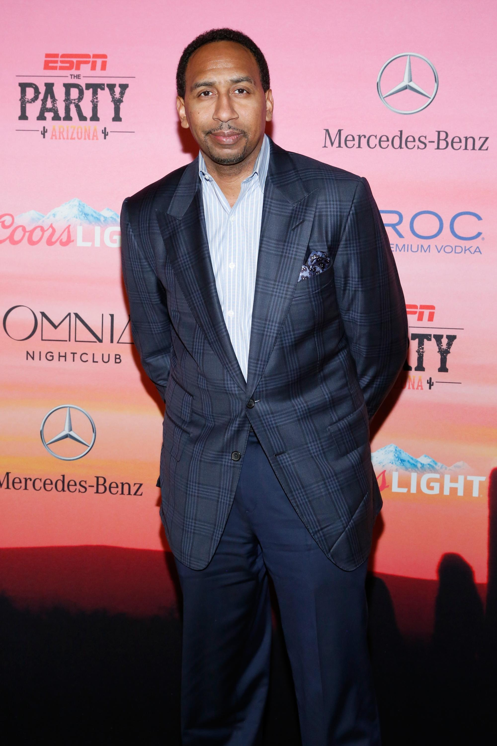 SCOTTSDALE, AZ - JANUARY 30: TV personality Stephen A. Smith attends ESPN the Party at WestWorld of Scottsdale on January 30, 2015 in Scottsdale, Arizona. (Photo by Robin Marchant/Getty Images for ESPN)