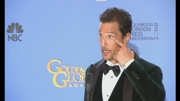 Golden Globes backstage: Matthew McConaughey opens up
