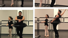 Father-of-the-year wears leotard and tutu to dance with daughter in school performance