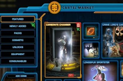 Star Wars: The Old Republic launches the Cartel Market on the PTS