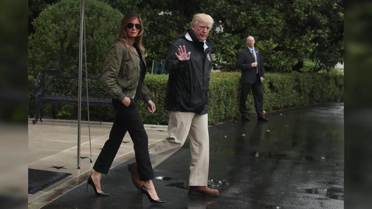 c10a2889ae96c Melania Trump Braves the Cold in Sky-High Christian Louboutin Stilettos