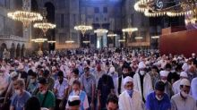 Thousands participate in first Muslim prayers at Istanbul's Hagia Sophia in 86 years