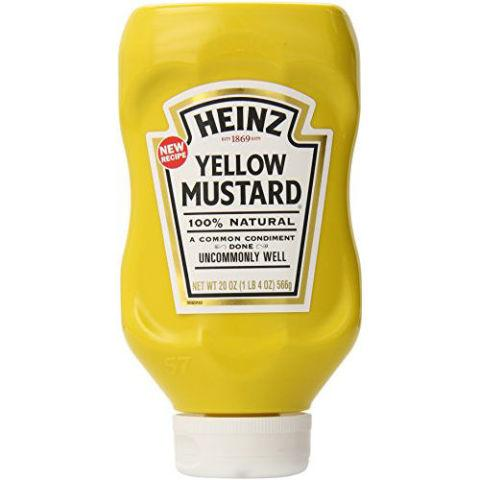 "<p><strong><em>$1, </em></strong><strong><em><a href=""http://www.amazon.com/Heinz-Yellow-Mustard-20-Ounce/dp/B00WFVWK2S/?tag=syndication-20"" rel=""nofollow noopener"" target=""_blank"" data-ylk=""slk:amazon.com"" class=""link rapid-noclick-resp"">amazon.com</a></em></strong></p><p>A gateway mustard for many, Heinz is versatile, mild in flavor, and comes in an easy-to-squeeze, hard-to-lose signature bright bottle. </p><p><strong>More: </strong><a href=""http://www.bestproducts.com/eats/food/g1539/steak-marinade-sauce-dressing/"" rel=""nofollow noopener"" target=""_blank"" data-ylk=""slk:12 Marinades for Grilling Season"" class=""link rapid-noclick-resp"">12 Marinades for Grilling Season</a> <br></p>"