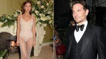 Model Irina Shayk stuns in naked dress, reunites with ex Bradley Cooper