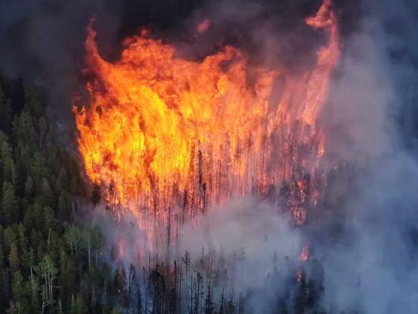 Wildfires explode in the West: At least 50 blazes erupt