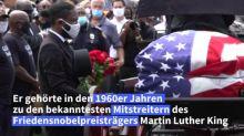 Symbolträchtige Prozession zu Ehren von US-Bürgerrechtler John Lewis