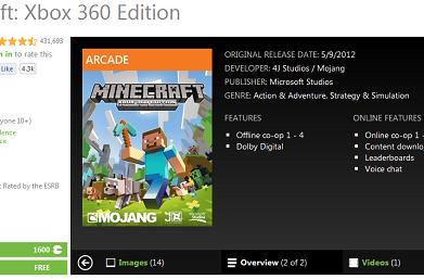 Surprise: XBLA Minecraft's split-screen multiplayer requires HDTV