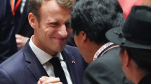 Theresa May warns Tories that French president Emmanuel Macron thinks he can stop Brexit