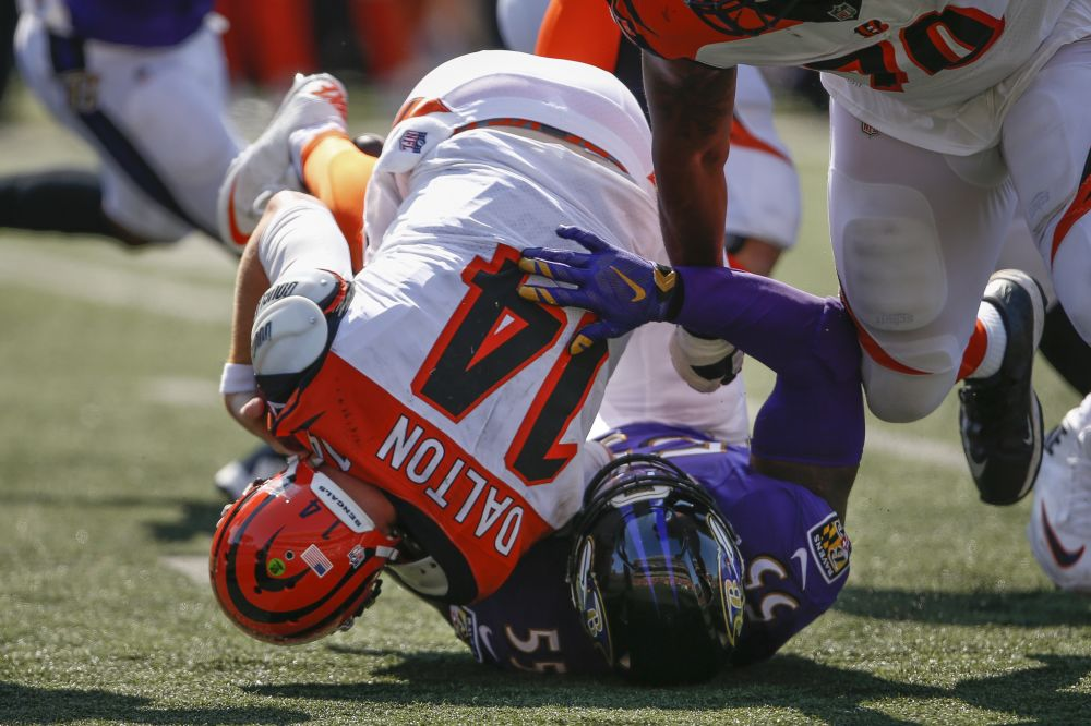 The Ravens held Andy Dalton and the Bengals scoreless in the season opener. (AP)