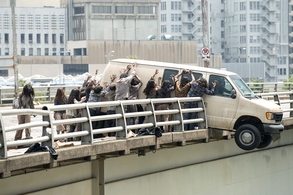 Walkers in AMC's The Walking Dead.