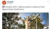 Malmoe, ultrà vandalizzano la statua di Ibrahimovic