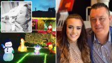 Devastating story behind mum's Christmas light display