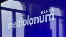 Banca Mediolanum, nel primo semestre utile netto in calo a 150,5 mln