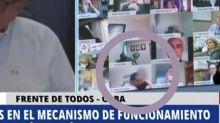 Sexszene auf Großbildschirm im argentinischen Parlament