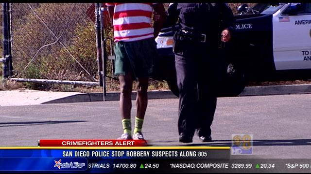 San Diego police stop robbery suspects along I-805