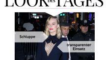 Look des Tages: Margot Robbie im Schluppenkleid