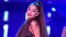Ariana Grande Wears Cat Ear Helmet, See-Through Skirt and Thigh-Highs for Performance