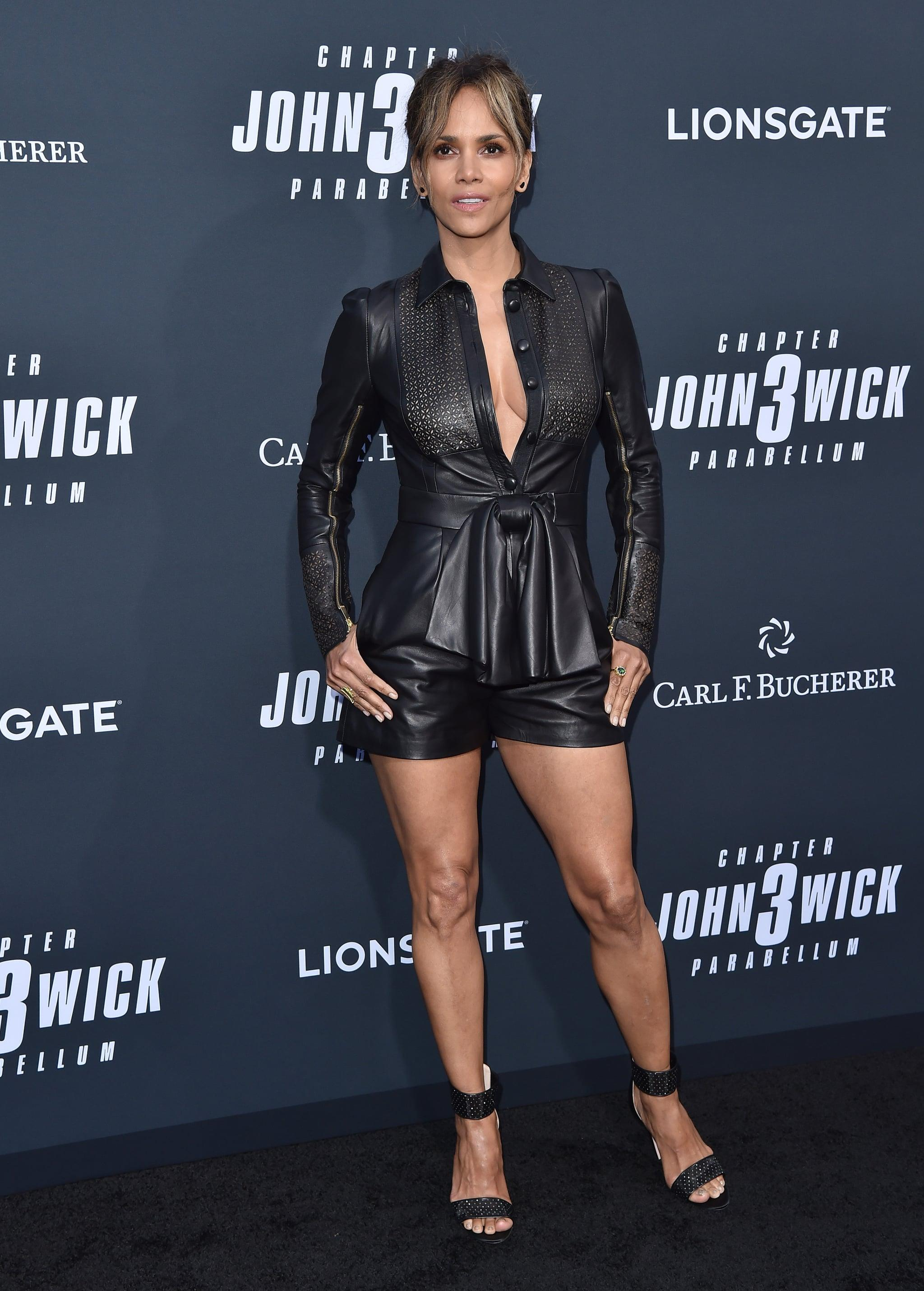 <p>She can pull off a leather set like it's nobody's business, as seen at the premiere of <strong>John Wick: Chapter 3</strong>.</p>