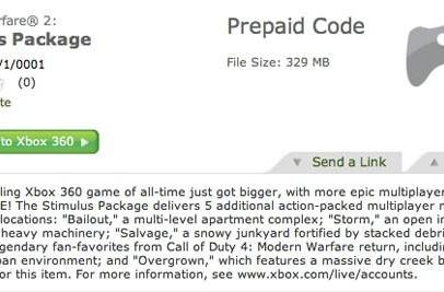 XBLM listing reveals 5 maps, 2 CoD4 remakes in MW2 'Stimulus Package' DLC