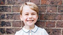 Un risueño príncipe George celebra su cumpleaños