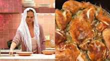 Chrissy Teigen made her first Shabbat dinner with chicken soup, challah, and a babka from Trader Joe's