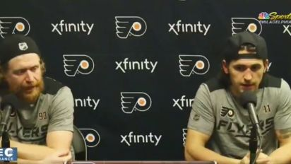 Flyers' Voracek goes off on reporter during presser