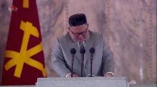 North Korea's Kim tearfully thanks troops, apologises for failures