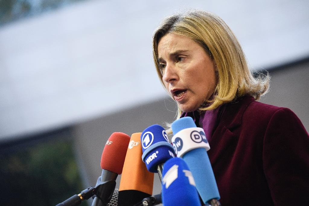 EU foreign affairs chief Federica Mogherini arrives for a Foreign Affairs meeting in Luxembourg on October 17, 2016 (AFP Photo/John Thys)