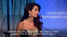 Amal Clooney criticises Donald Trump over journalist comments