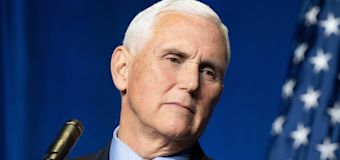 Pence greeted by shouts of 'traitor' at conference