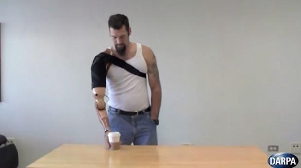 DARPA developing muscle-controlled prosthetic limbs that can feel (video)